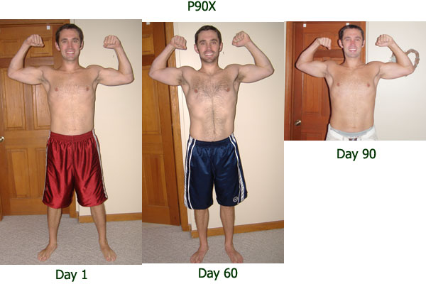 P90X Before And After Front Picture