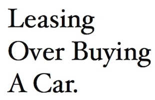Leasing Over Buying A Car