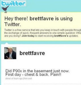 Brett Favre Twitter P90X