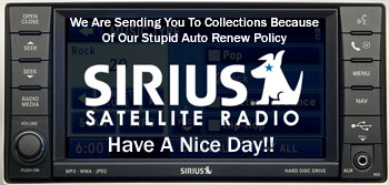 Sirius Satellite Radio Policy