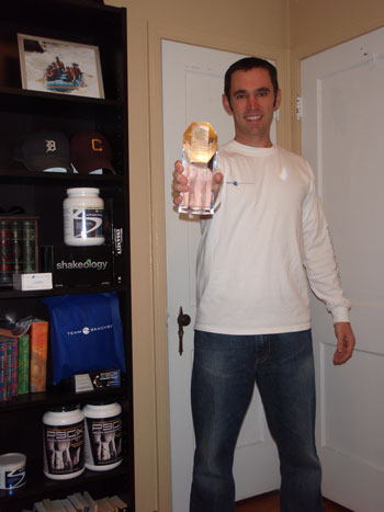 Me and the Beachbody Coach Trophy
