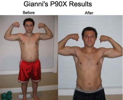 Gianni's P90X Results