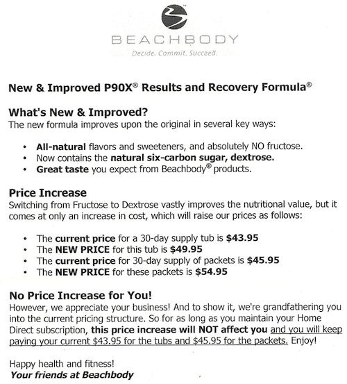P90X Recovery Drink Price