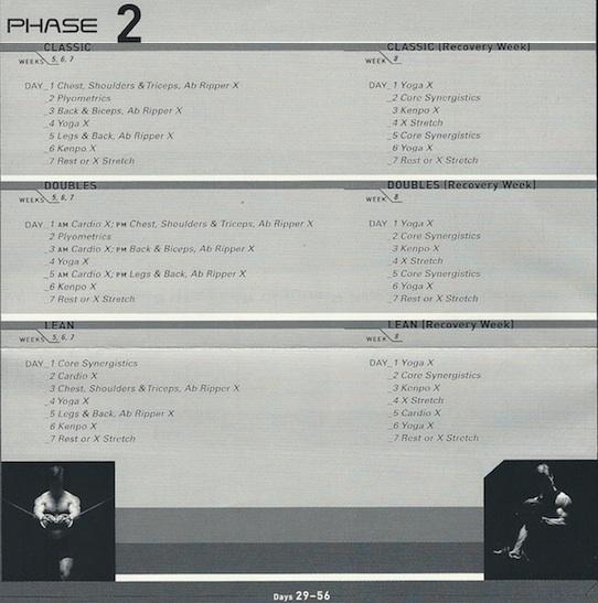 P90X Phase 2 Calendar