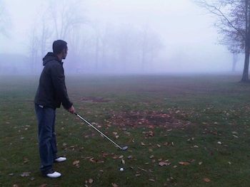 Golfing in the Fog