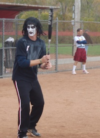 WWF Sting Playing Softball
