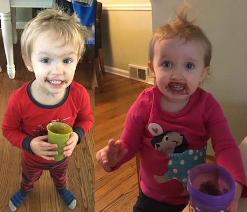 Kids Drinking Shakeology