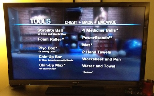 P90X2 Workout Equipment