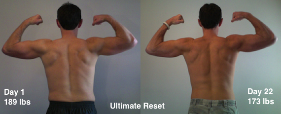 Beachbody Ultimate Reset Results Back