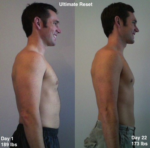 Beachbody Ultimate Reset Results Side