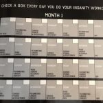 Insanity Workout Calendar Month 1
