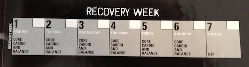 Insanity Workout Calendar Recovery Week
