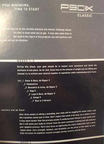 P90X Classic Schedule
