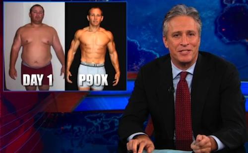 Jon Stewart P90X Daily Show