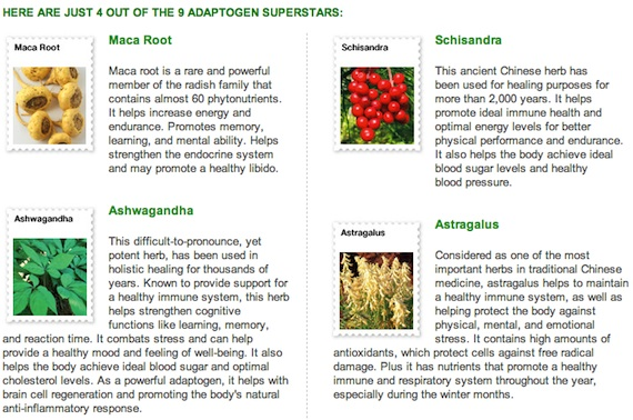 Shakeology Adaptogens