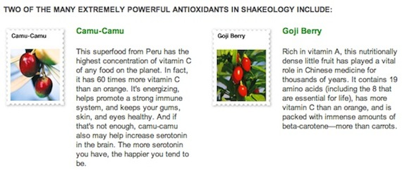 Shakeology Antioxidant Ingredients