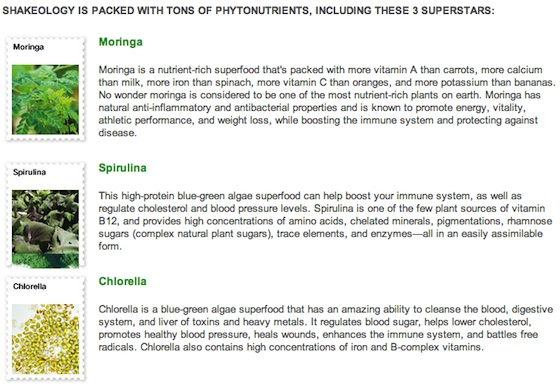 Shakeology Phytonutrients