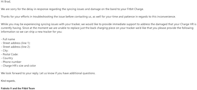Fitbit Customer Service