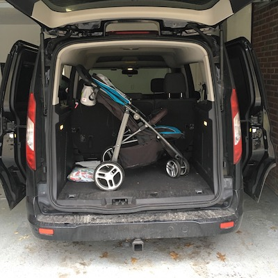 Stroller In Ford Transit Connect Wagon