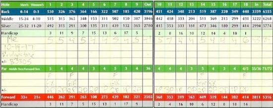 Bridgestone Tour B330S Score