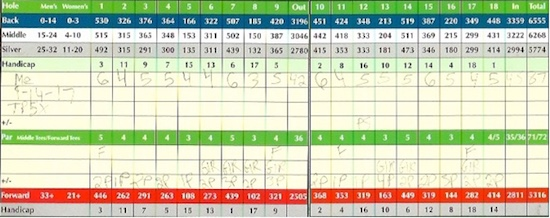 TaylorMade TP5x Score
