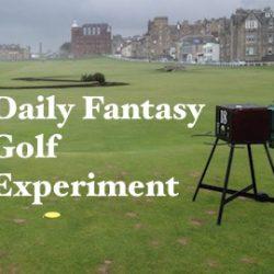 Daily Fantasy Golf Experiment