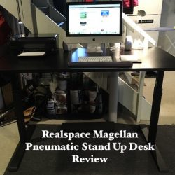 Realspace Magellan Pneumatic Stand Up Adjustable Desk Review