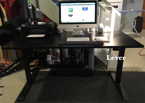 Realspace Magellan Stand Up Desk Lowered Position
