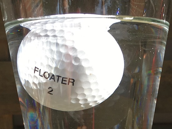 Does A Floating Golf Ball Really Float