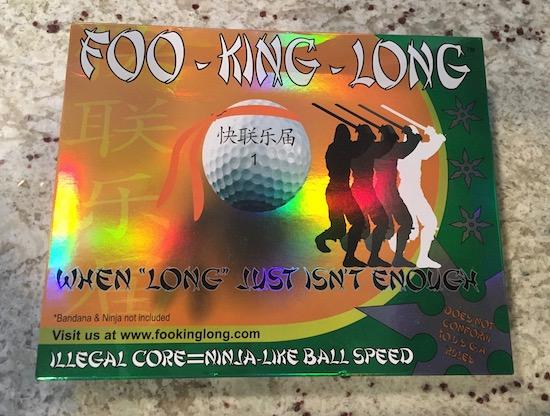 FOO KING LONG Dozen Golf Balls Packaging