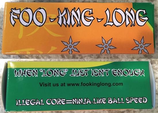 FOO KING LONG Sleeve Golf Balls