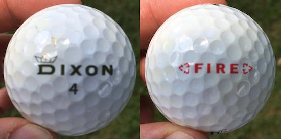Dixon Fire Golf Ball Durability
