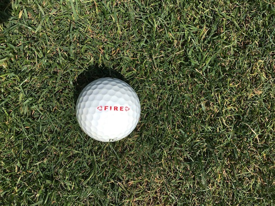 Dixon Fire Golf Ball In Fairway