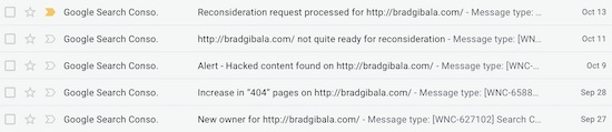 Google Webmasters Hacked Emails
