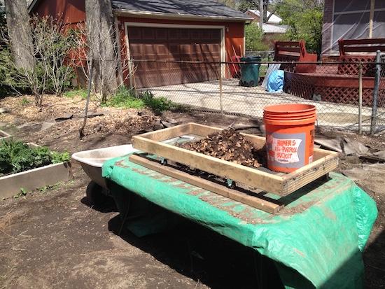 DIY Rock Sifter Making Progress