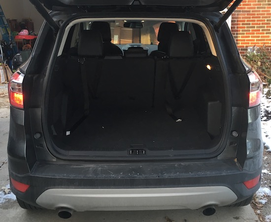 2017 Ford Escape Titanium Cargo Space